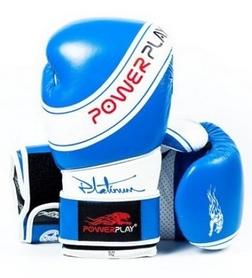 Перчатки боксерские PowerPlay Platinum, синие (3023)