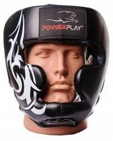 Шлем боксерский PowerPlay 3043, черный (3043-BK)
