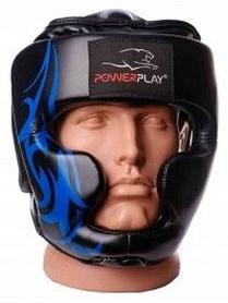 Шлем боксерский PowerPlay 3048, черно-синий (3048-BKBL)