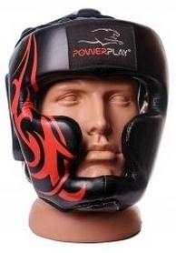 Шлем боксерский PowerPlay 3048, черно-красный (3048-BKRD)