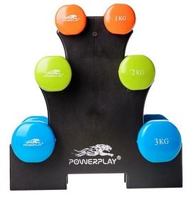 Набор гантелей со стойкой PowerPlay 4119, 12 кг