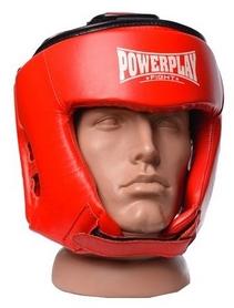 Шлем боксерский PowerPlay 3049, красный (3049-RD)
