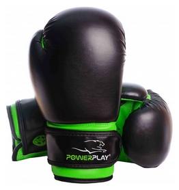 Перчатки боксерские PowerPlay 3004, черные (3004-BKGN)