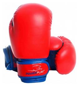Перчатки боксерские PowerPlay 3004, красные (3004-RDBL)