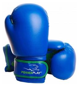 Перчатки боксерские PowerPlay 3004, синие (3004-BLGN)