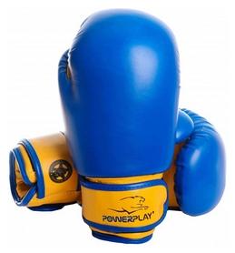 Перчатки боксерские PowerPlay 3004, желтые (3004-BLYL)