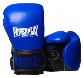 Перчатки боксерские PowerPlay 3015, синие (3015-BL)