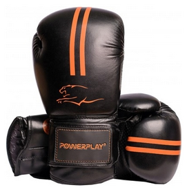 Перчатки боксерские PowerPlay 3016, оранжевые (3016-OR)