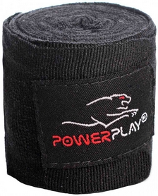 Бинт боксерский PowerPlay 3046 - черный, 2,5 м