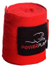 Бинт боксерский PowerPlay 3046 - красный, 2,5 м