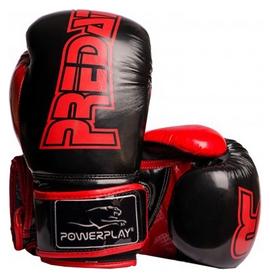 Перчатки боксерские PowerPlay 3017, черные (3017-BK)
