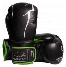 Перчатки боксерские PowerPlay 3018, зеленые (3018-GN)
