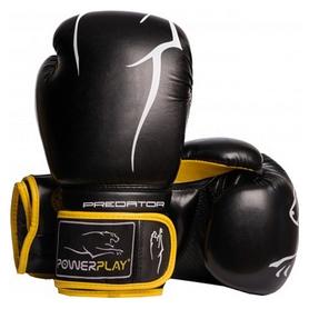 Перчатки боксерские PowerPlay 3018, желтые (3018-BKYL)