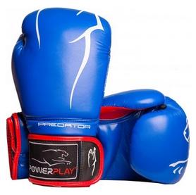 Перчатки боксерские PowerPlay 3018, синие (3018-BLRD)