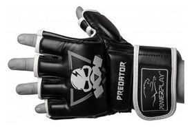 Перчатки для MMA PowerPlay Preoator, черные (3056-А)