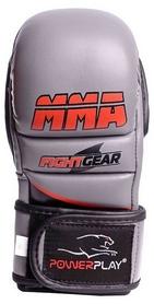 Перчатки для MMA PowerPlay Fight Gear, серые (3026)