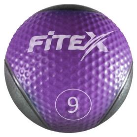 Мяч медицинский (медбол) Fitex MD1240-9 - фиолетовый, 9 кг