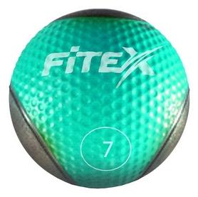 Мяч медицинский (медбол) Fitex MD1240-7 - бирюзовый, 7 кг