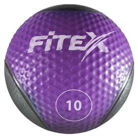 Мяч медицинский (медбол) Fitex MD1240-10 - фиолетовый, 10 кг