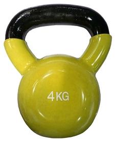 Гиря виниловая Fitex Explode MD2201-4 - желтая, 4 кг