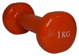 Гантель виниловая Fitex MD2015-1V - красная, 1 кг