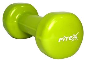 Гантель виниловая Fitex MD2015-2V - желтая, 2 кг