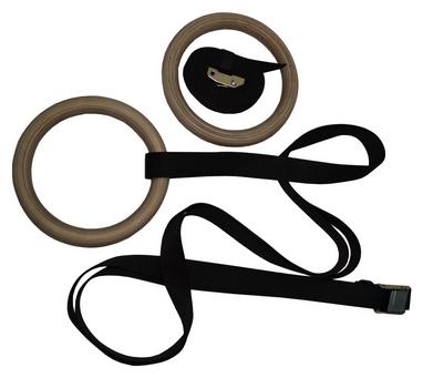 Кольца гимнастические Fitex MD1364-M38, коричневые