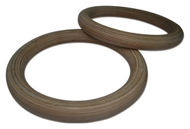 Кольца гимнастические Fitex MD1364-M38, коричневые - Фото №3