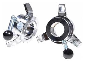 Замки для грифа винтовые Eleiko Olympic WL Competition Collars - серебряные, 50 мм (131-0050)