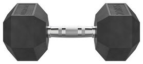 Гантели хромированные с резиновым покрытием Eleiko XF Dumbbell - черные,  2 шт по 20 кг (3002336)