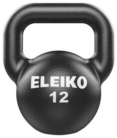 Гиря чугунная Eleiko Kettlebell - черная, 12 кг (380-0120)