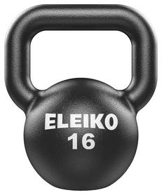 Гиря чугунная Eleiko Kettlebell - черная, 16 кг (380-0160)