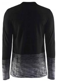 Термофутболка мужская с длинным рукавом Craft Wool Comfort 2.0 CN LS Man 17 черная (1905344-999975)