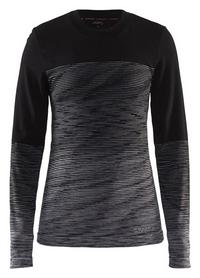 Термофутболка женская с длинным рукавом Craft Wool Comfort 2,0 CN LS Woman AW 17 черная (1905341-999975)