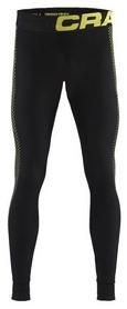 Термокальсоны мужские Craft Warm Intensity Pants Man AW 17, черно-желтые (1905352-999603)
