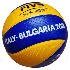 Мяч волейбольный Mikasa Official Game Ball, Italy-Bulgaria 2018 & Men's WCH, FIVB Approved, №5 (MVA200 Men's WCH) (Оригинал)