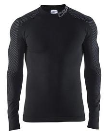 Термофутболка мужская с длинным рукавом Craft Craft Warm Intensity CN LS Man AW 17, черная (1905350-999985)