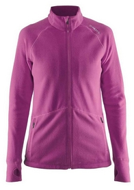 Кофта женская Craft Full Zip Micro Fleece Jacket Woman, розовая (1904594-2403)