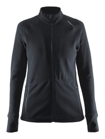 Кофта женская Craft Full Zip Micro Fleece Jacket Woman, черная (1904594-9999)