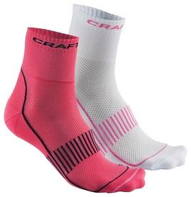 Носки Craft Cool Training 2-Pack Sock SS 16 - розовые, белые (1903427-2471)