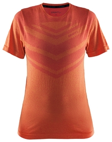 Футболка женская Craft Cool Comfort RN SS Woman SS 17, оранжевая (1904913-2411)