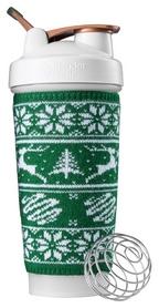 Шейкер с шариком BlenderBottle Classic Loop - бело-зеленый, 820 мл (Loop_28oz_Pine)