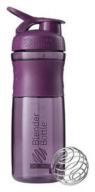 Шейкер с шариком BlenderBottle SportMixer - фиолетовый, 820 мл (SM 28oz Black/Plum)