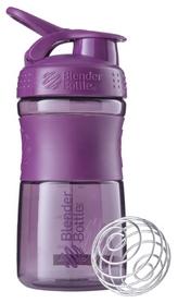 Шейкер с шариком BlenderBottle SportMixer - фиолетовый, 590 мл (SM 20oz Black/Plum)