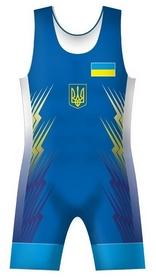 """Трико борцовское """"Сборная Украины 2016"""", синее (A-01WR)"""