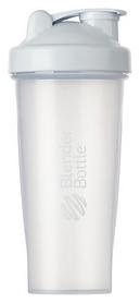 Шейкер с шариком BlenderBottle Classic - прозрачный-белый, 820 мл (Classic 28oz Trans/White)