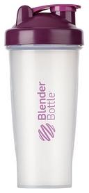 Шейкер с шариком BlenderBottle Classic - прозрачный-фиолетовый, 820 мл (Classic 28oz Trans/Plum)
