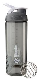 Шейкер с шариком BlenderBottle Sleek Agua - серый, 820ml/28oz (Sleek_Grey)