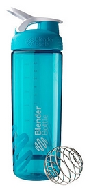 Шейкер с шариком BlenderBottle Sleek Agua - голубой, 820ml/28oz (Sleek_Agua)