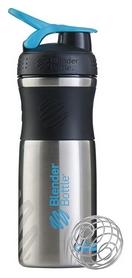 Шейкер с шариком BlenderBottle Stainless Steel - голубой, 820 мл (Steel Agua)